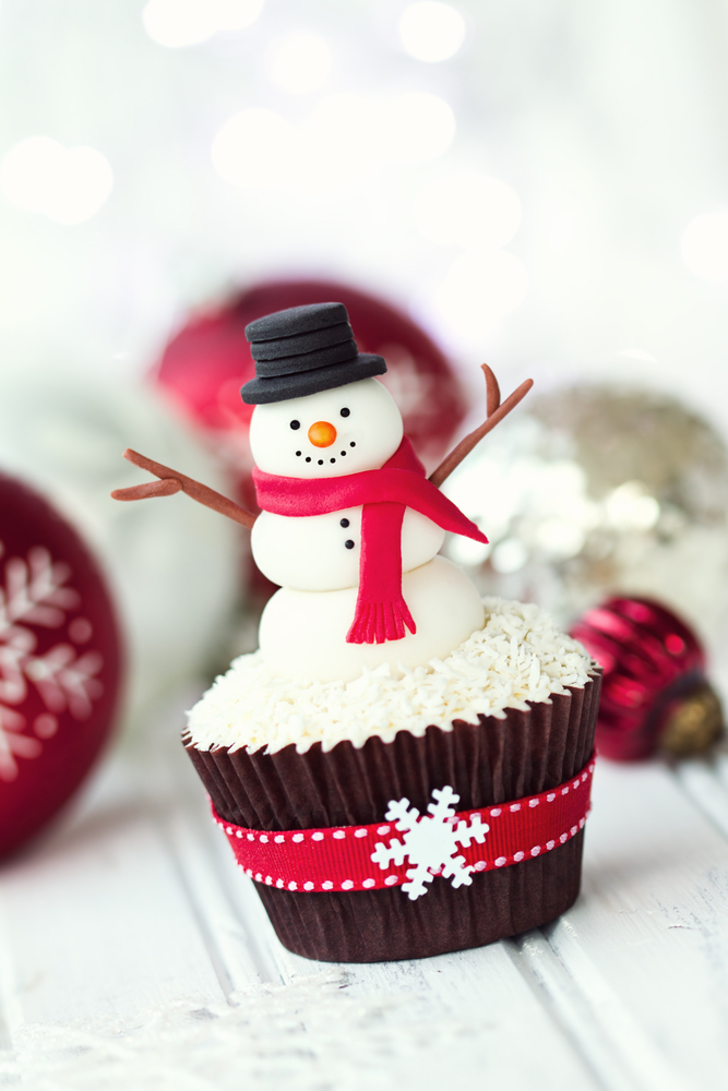 Zasnežené muffiny. Foto: Shutterstock