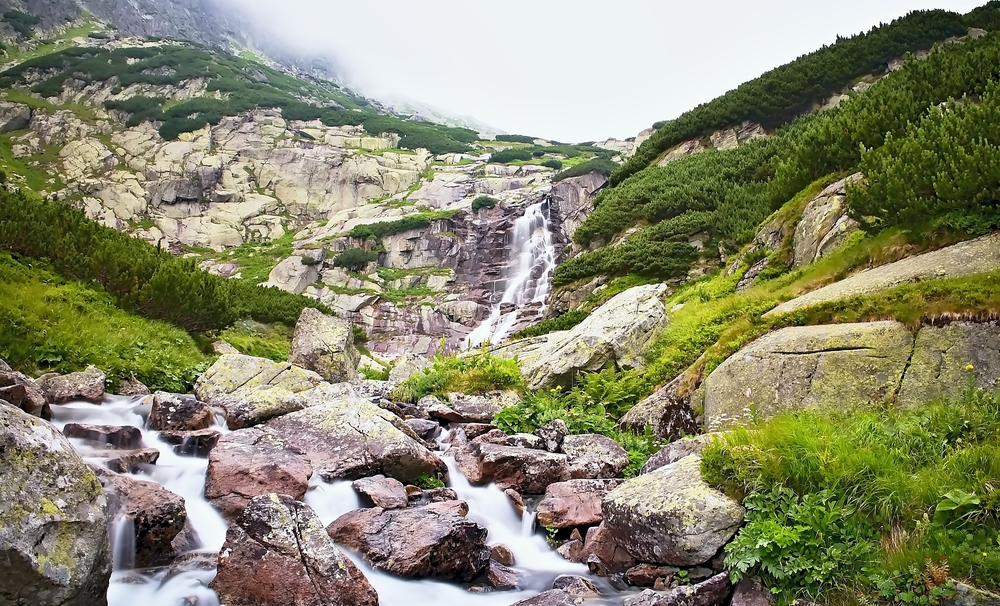 Vodopád vo Vysokých Tatrách. Foto: Shutterstock