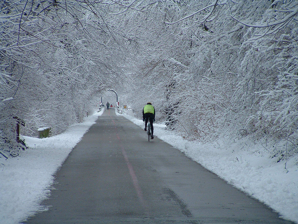 Cyklistika v zime. Foto: Shutterstock