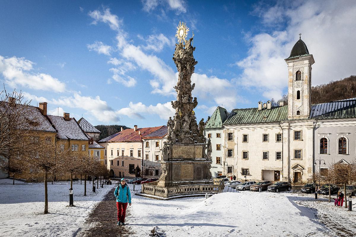 Stĺp Najsvätejšej Trojice je najvýznamnejšia pamiatka svojho druhu na Slovensku. Foto: Miro Pochyba