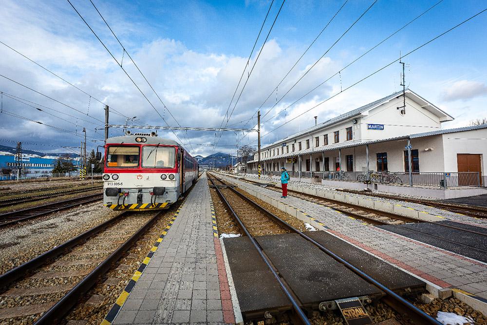 Železničná stanica Martin. Foto: Miro Pochyba