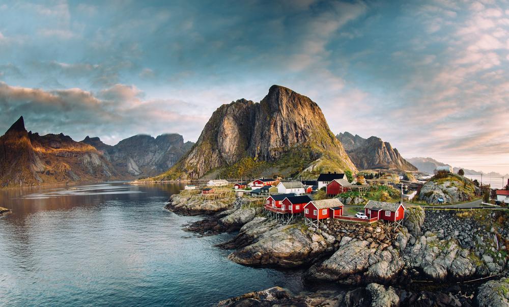 Dedinka Hammoy v Nórsku. EuroVelo 1. Foto: Shutterstock