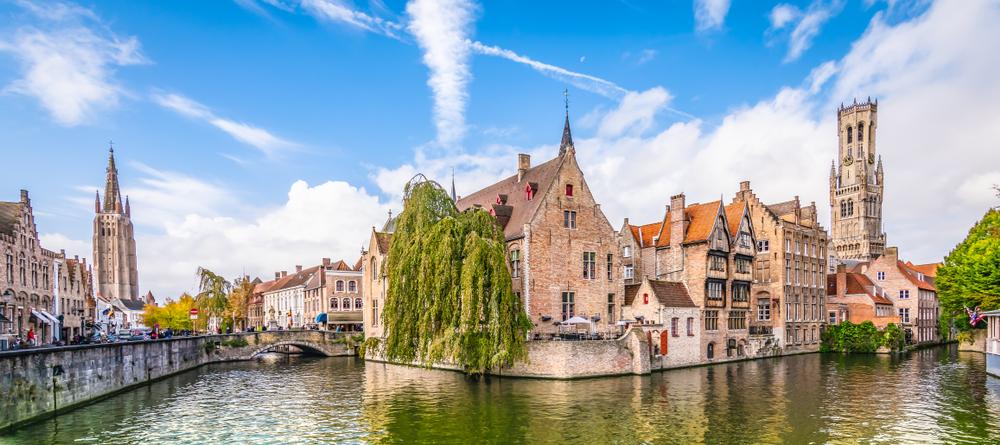 Mesto Bruggy na severozápade Belgicka. EuroVelo 4. Foto: Shutterstock