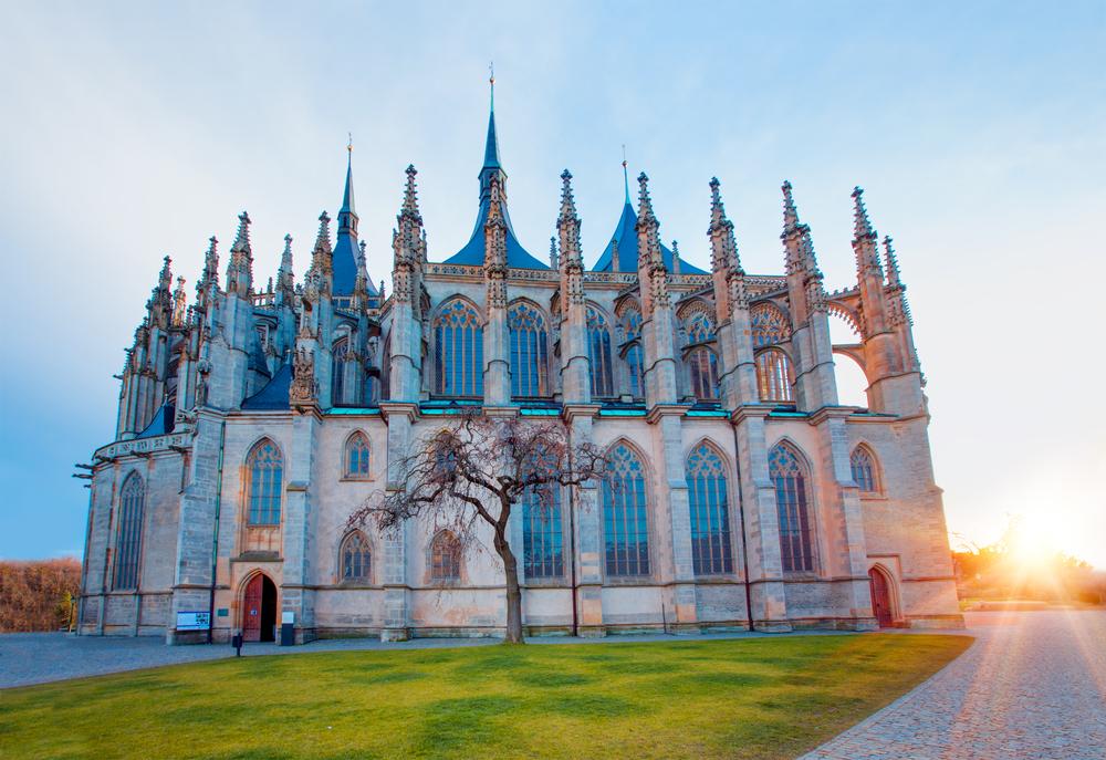Katolícky kostol v Kutnej hore v Českej republike. EuroVelo 4. Foto: Shutterstock