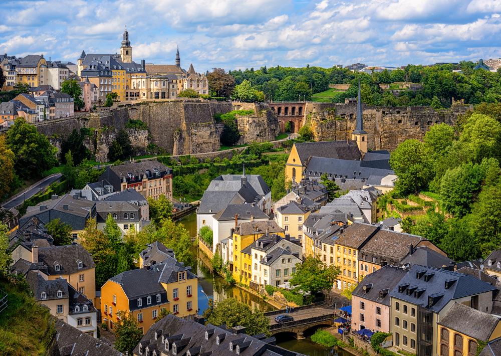 Mesto Luxemburg vás prekvapí. EuroVelo 5. Foto: Shutterstock