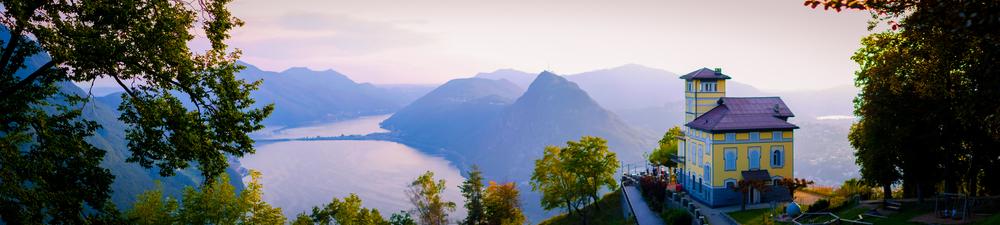 Hora Monte San Giorgio vo Švajčiarsku nad Luganským jazerom. EuroVelo 5. Foto: Shuttestock