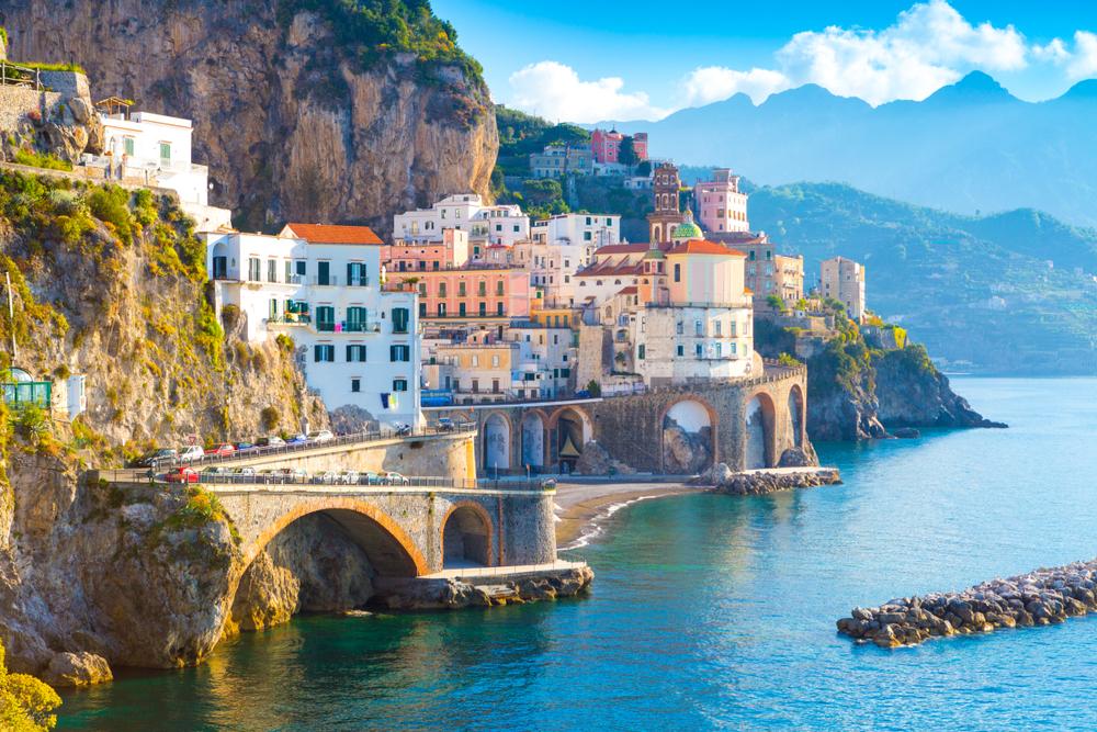 Amalfi pobrežie v Taliansku. EuroVelo 7. Foto: Shuttestock