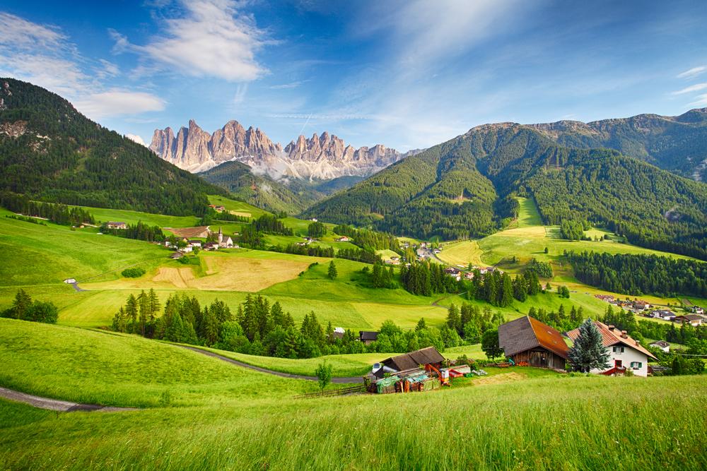 Talianske dolomity. EuroVelo 7. Foto: Shutterstock