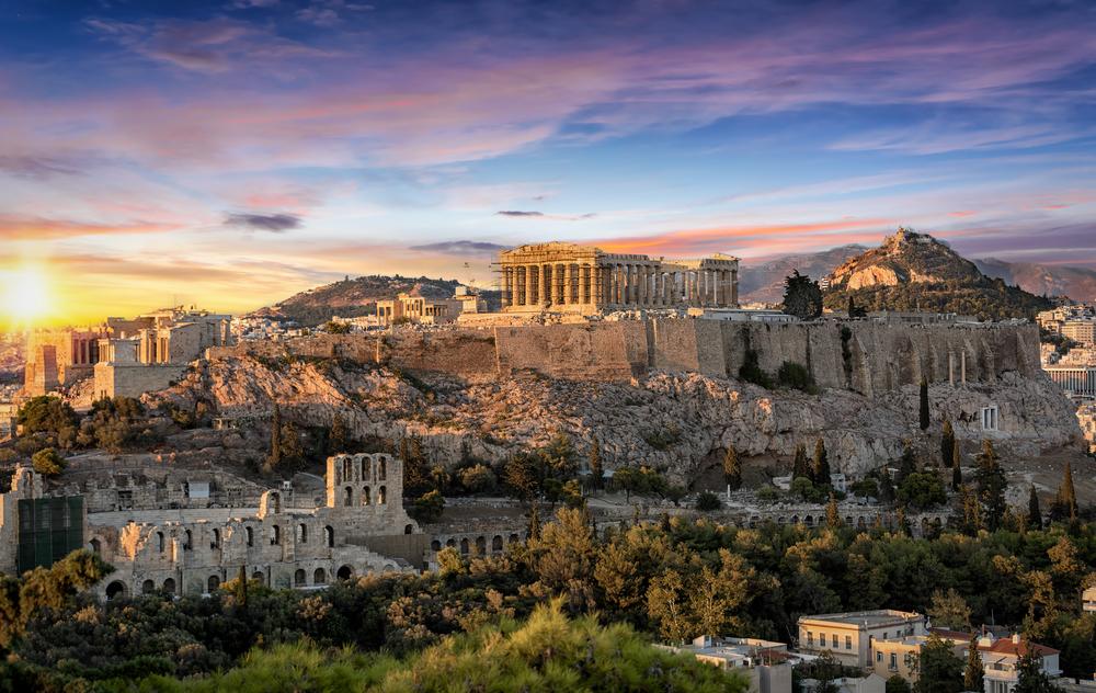 Atény. EuroVelo 8. Foto: Shuttestock