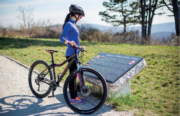 Cyklotrasa na Bradlo. Foto: Marek Kikinder