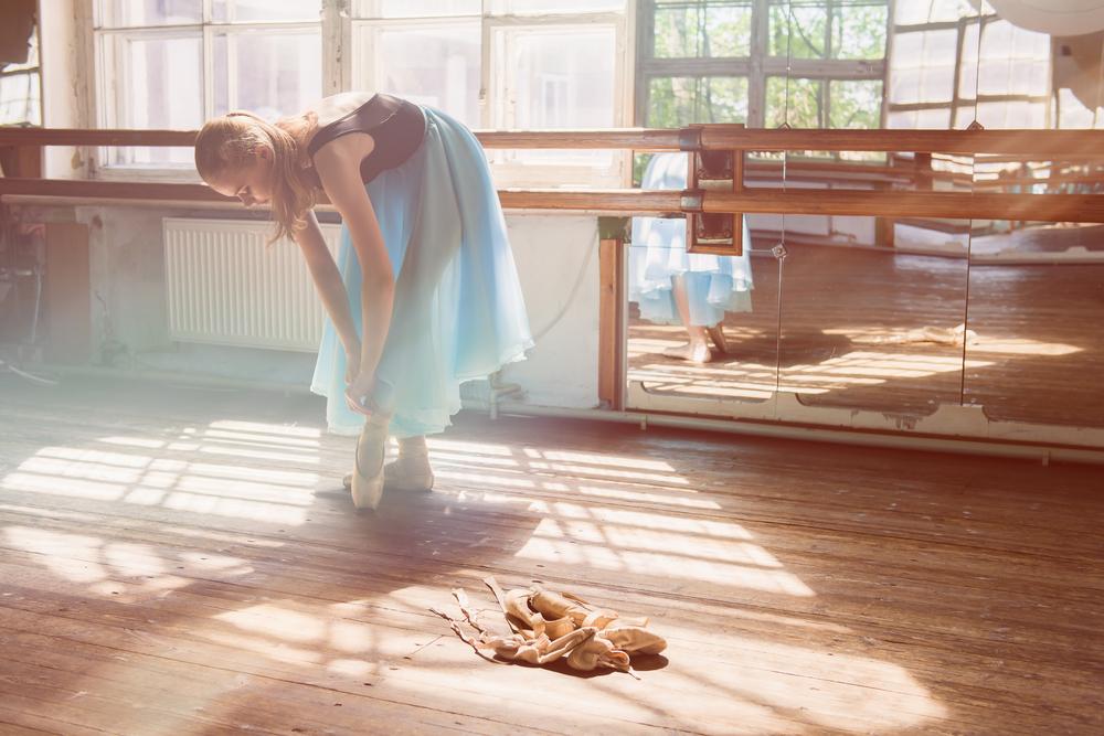 Strečing ballerina. Foto: Shutterstock