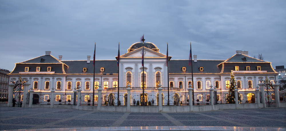 Bratislava, Prezidenstký palác. Foto: Shutterstock