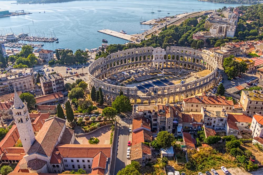 Pula, Istria, Chorvátsko. Foto: Shutterstock