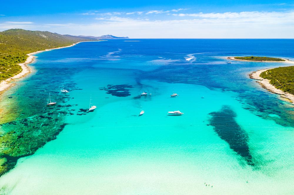 Pláž Sakarun, Dugi otok, Chorvátsko. Foto: Shutterstock