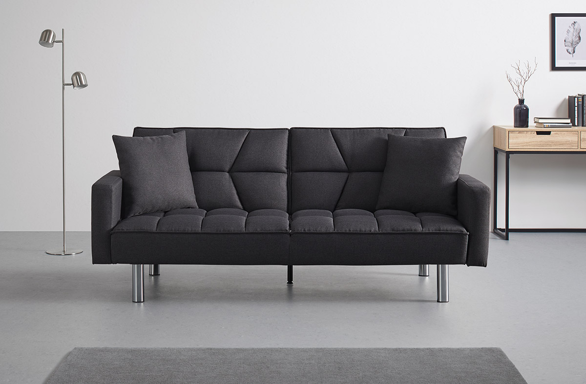 Čierna sedačka Möbelix.