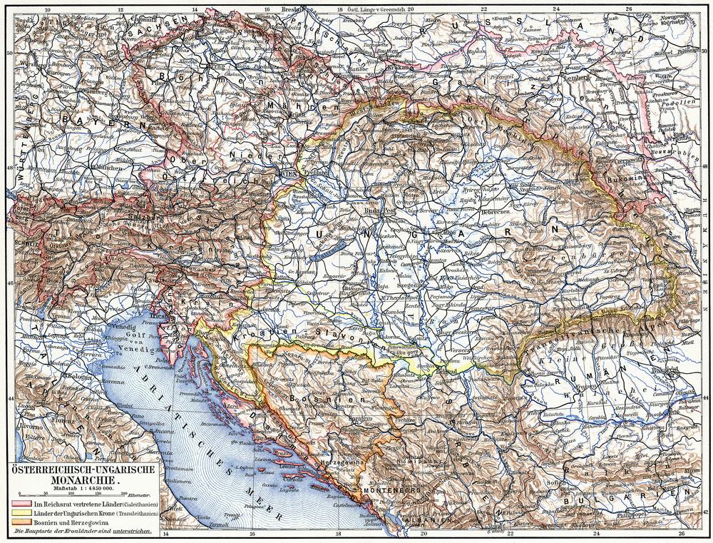 Rakúsko-uhorsko. Foto: Shutterstock