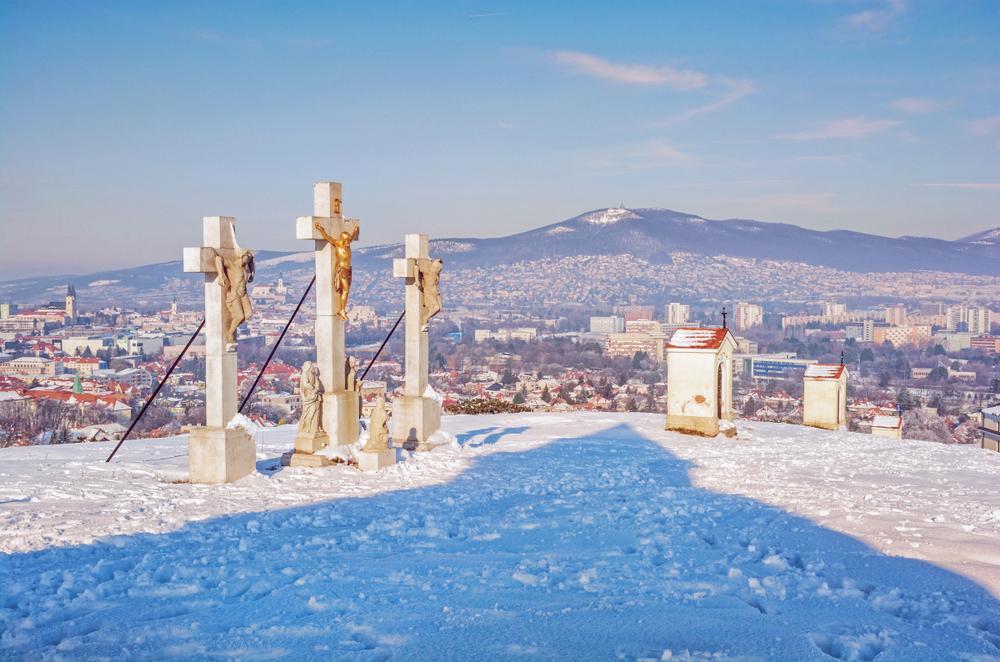 KAlvária Nitra v zime. Foto: Shuttertsock