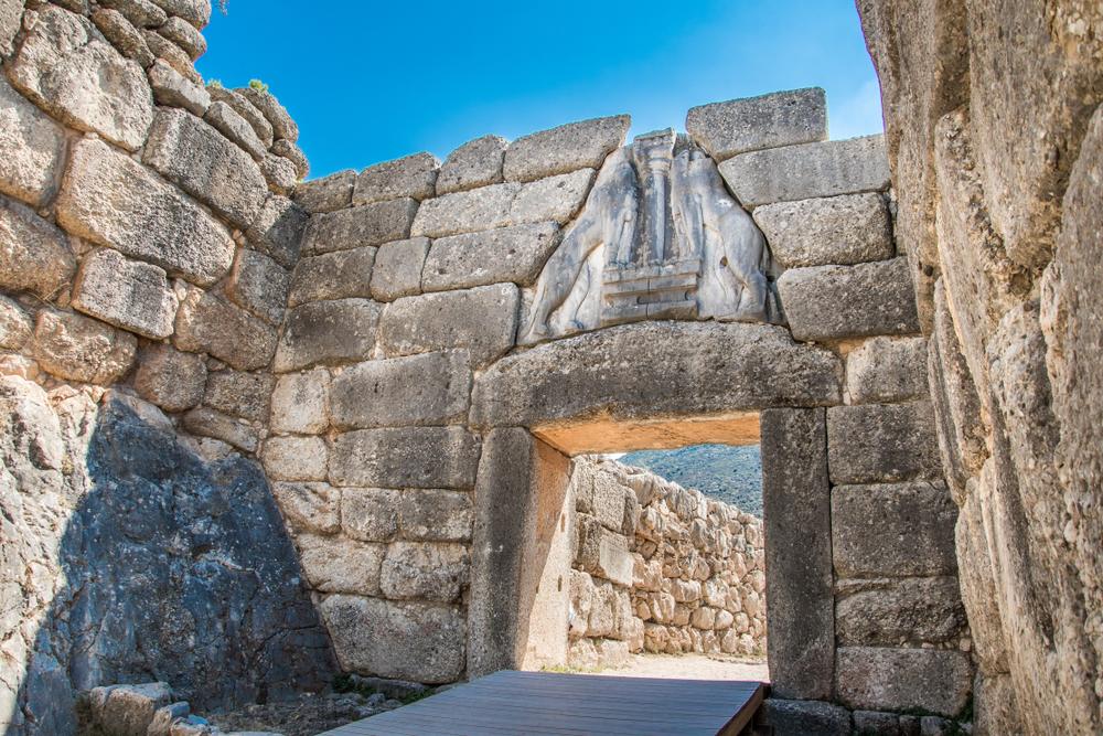 Levia brána pri vstupe do Mykén má viac ako 3 metre. Foto: Shutterstock