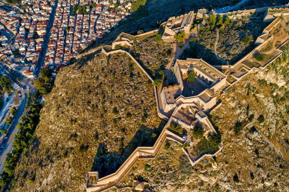 Pevnosť nad mestom Nafplio. Foto: Shutterstock