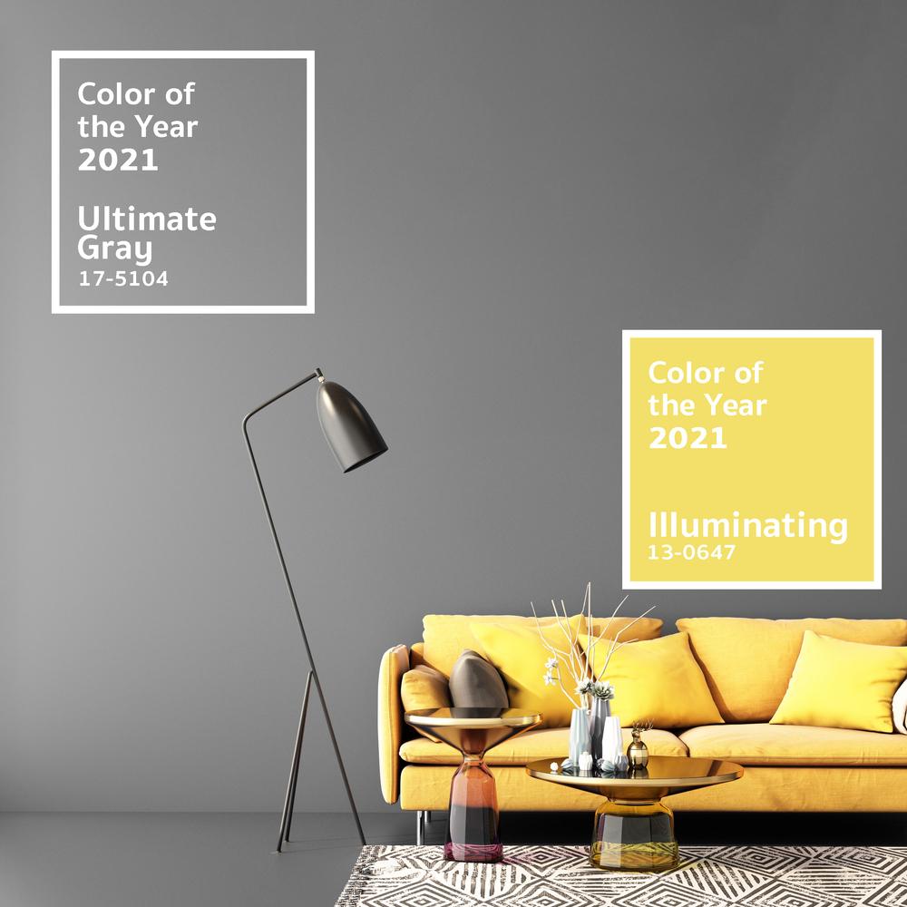 Farby roka 2021 sú až dve: sivá a žltá. Foto: Shutterstock