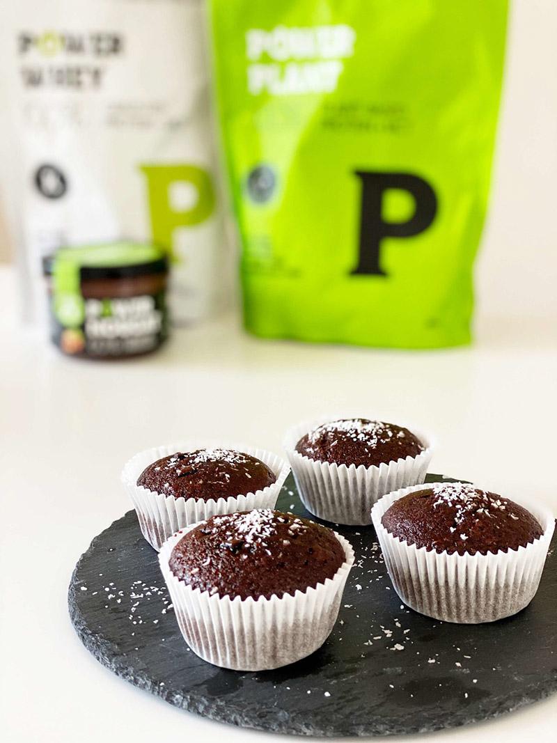 Proteínové čokoládové muffiny.