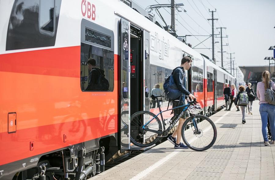 Vlakom s bicyklom (c) ÖBB | Harald Eisenberger