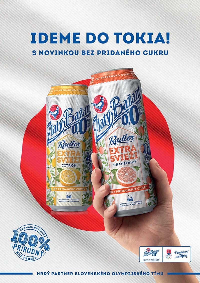 Zlatý Bažant 0,0% je hrdým partnerom Slovenského olympijského tímu na ceste do Tokia.