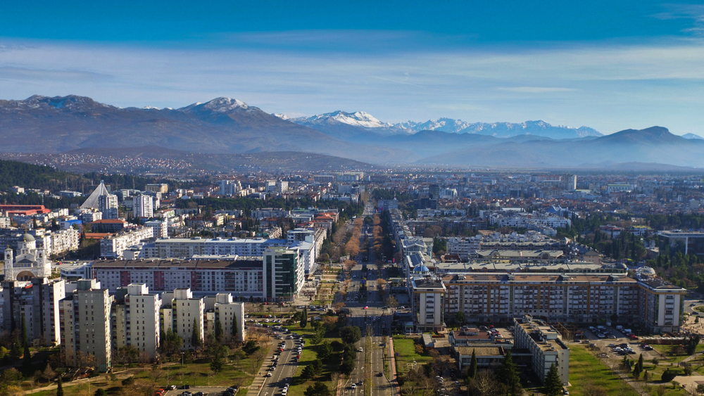 Podgorica, Čierna hora. Foto: Shutterstock