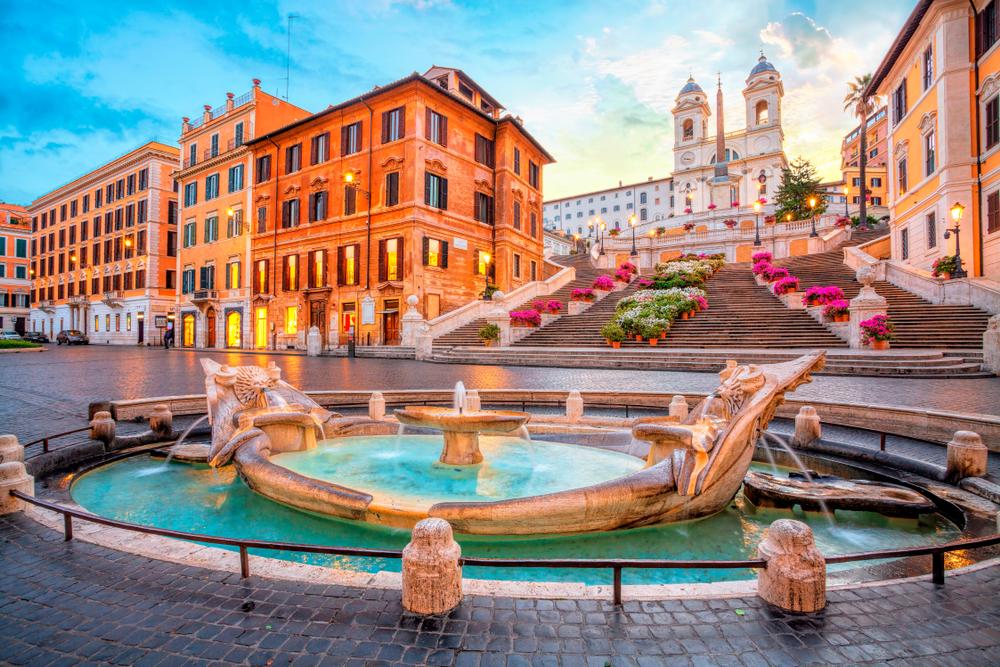 Rím španieske schody Taliansko. Foto: Shutterstock